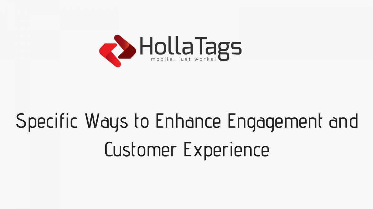HollaTags, Blog banner, Improve Customer Experience Mobile