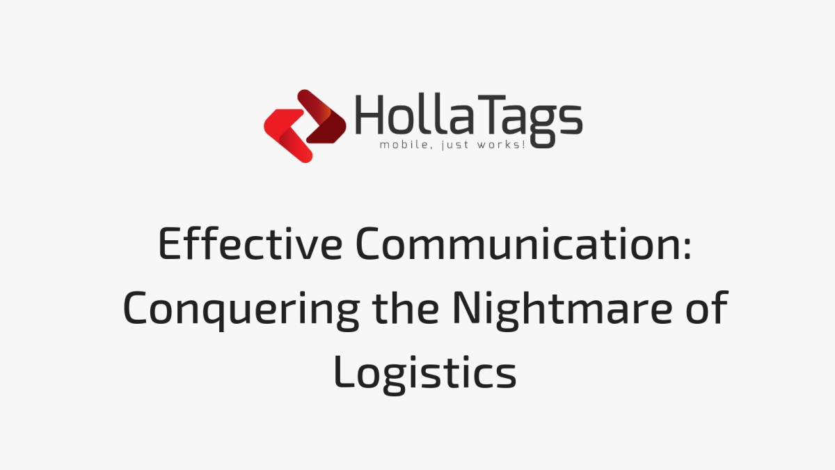 HollaTags, Blog banner- Logistics Mobile